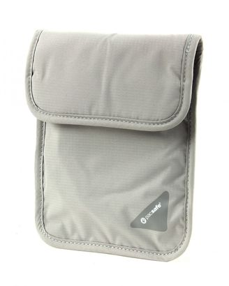 pacsafe Coversafe X75 RFID Blocking Neck Pouch Neutral Grey