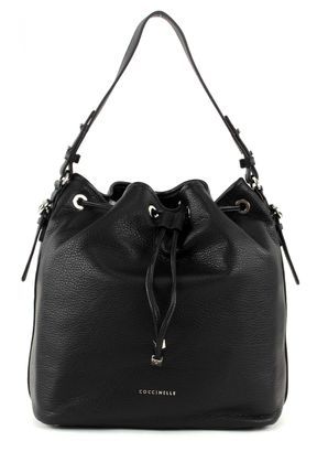 COCCINELLE Mel Soft Drawstring Bag Nero