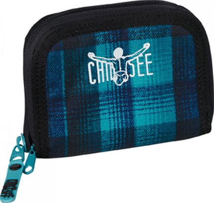CHIEMSEE Twin Zip Wallet Checky Chan Blue