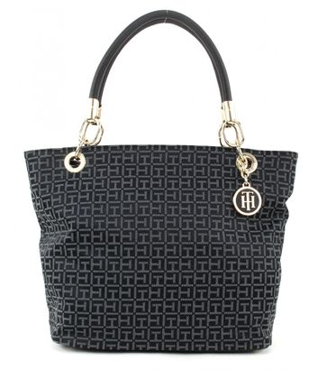 TOMMY HILFIGER TH Essential TH Signature Tote Jacquard Black/Iron