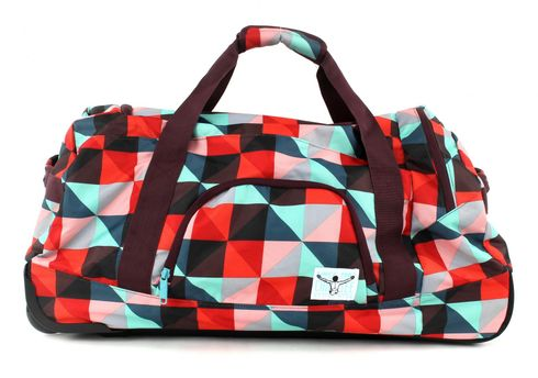 CHIEMSEE Rolling Duffle Large Magic Triangle Red