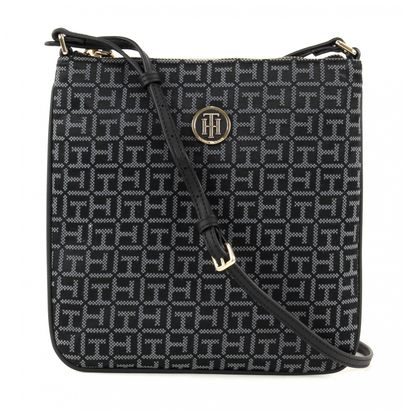 TOMMY HILFIGER TH Essential Flat Crossover Jacquard Black/Iron