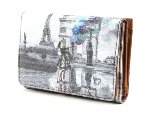 Y NOT? Fun Wallet Small Blue Baloon