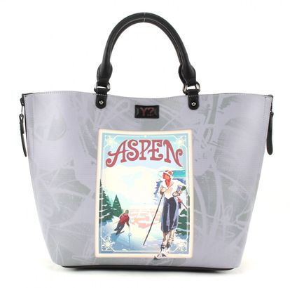 Y NOT? Postcards Reversible Shopper L Aspen