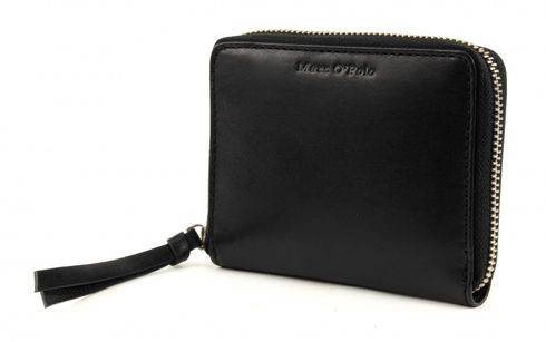 Marc O'Polo Cow Vegetable Zip Wallet M Black