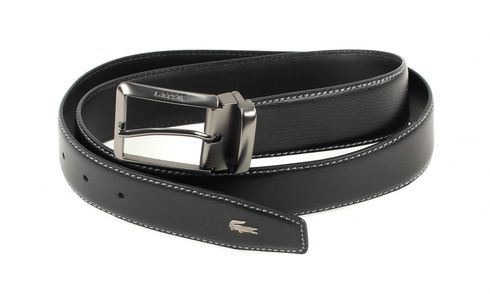 LACOSTE Curved Belt Stitched Edges W95 Black