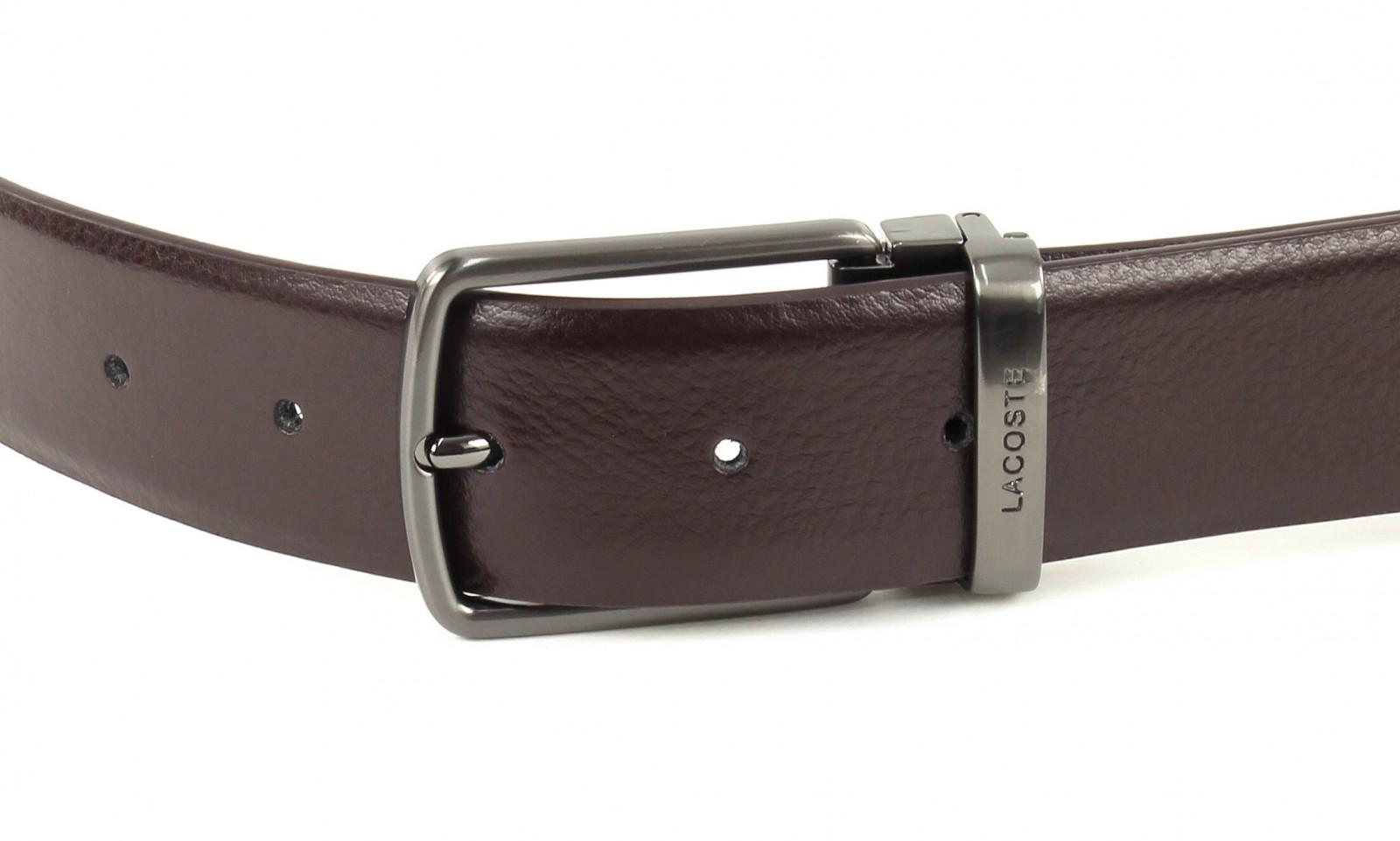 LACOSTE Curved Welded Belt W85 Brown
