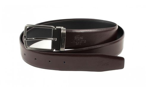 LACOSTE Curved Welded Belt W110 Brown