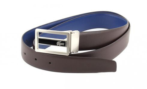 LACOSTE Curved Welded Edges Belt W95 Brown / Blue