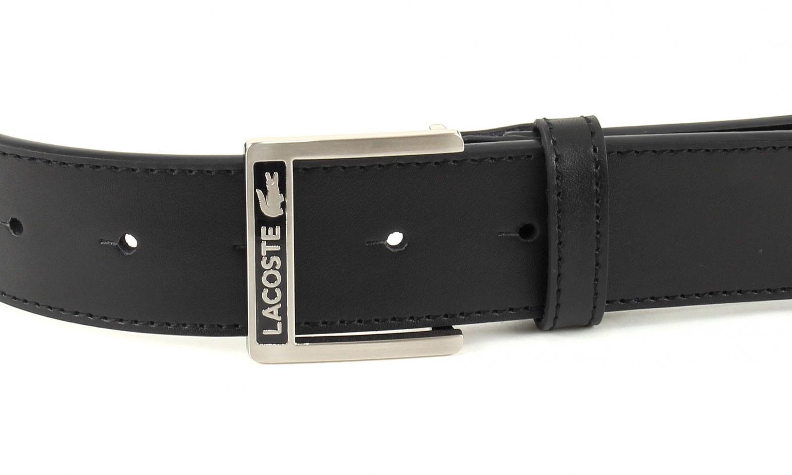 ad02c379a02b LACOSTE Belt Reversible Welded Edges W110 Black