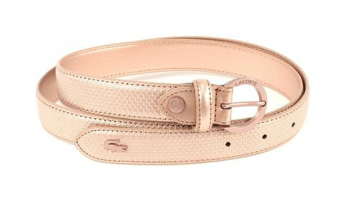 LACOSTE Curved Stitched Edges Belt W90 Edelberry