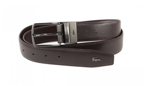 LACOSTE Reversible Belt Curv W95 Brown