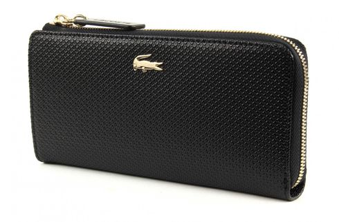 LACOSTE Chantaco Slim Zip Wallet Black