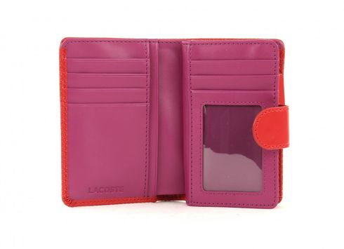 LACOSTE Chantaco Medium Wallet Pompeian Red