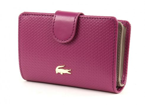 LACOSTE Chantaco Medium Wallet Boysenberry