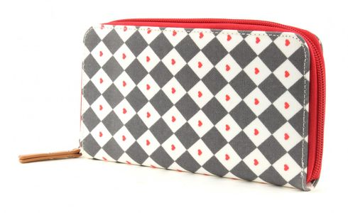 Pink Lining Wallet Diamonds & Hearts