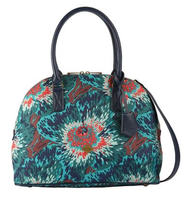 Oilily Winter Flowers Boston Bag Teal