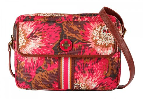 Oilily Winter Flowers S Shoulder Bag Wild Rose