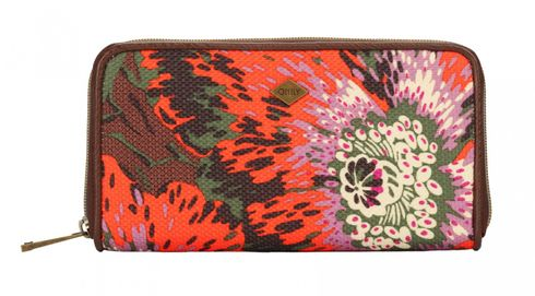 Oilily Winter Flowers L Zip Wallet Wild Orange