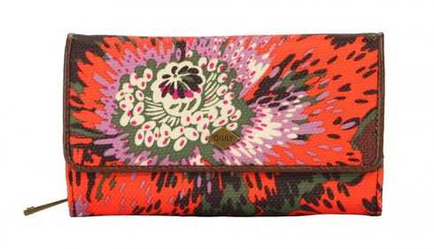 Oilily Winter Flowers L Wallet Wild Orange