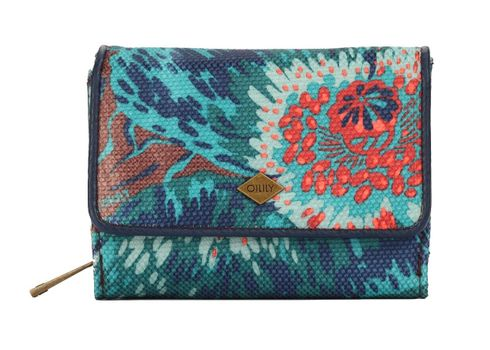 Oilily Winter Flowers S Wallet Teal