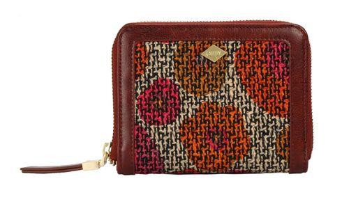 Oilily Floral S Zip Wallet Dashing Fuchsia