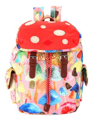 Oilily Autumn Forest Mushroom Backpack Icy Pink