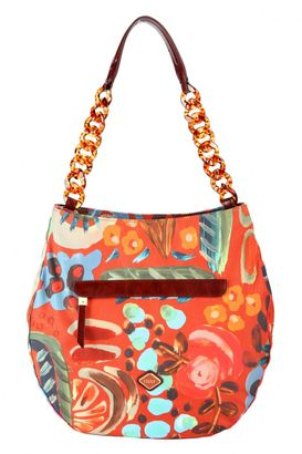 Oilily Painterly L Shoulder Bag Cinnamon