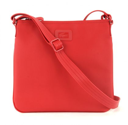 LACOSTE Women's Classic Flat Crossover Bag Flame Scarlet