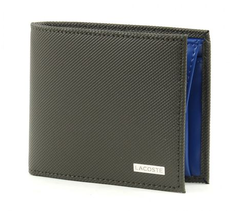 LACOSTE Edward Small Billfold & Coin Forest Night