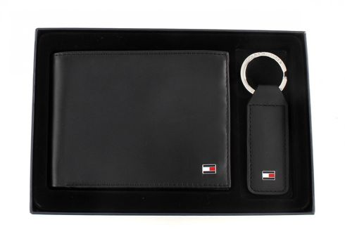 TOMMY HILFIGER Eton CC and Coin Pocket Gift Box Black