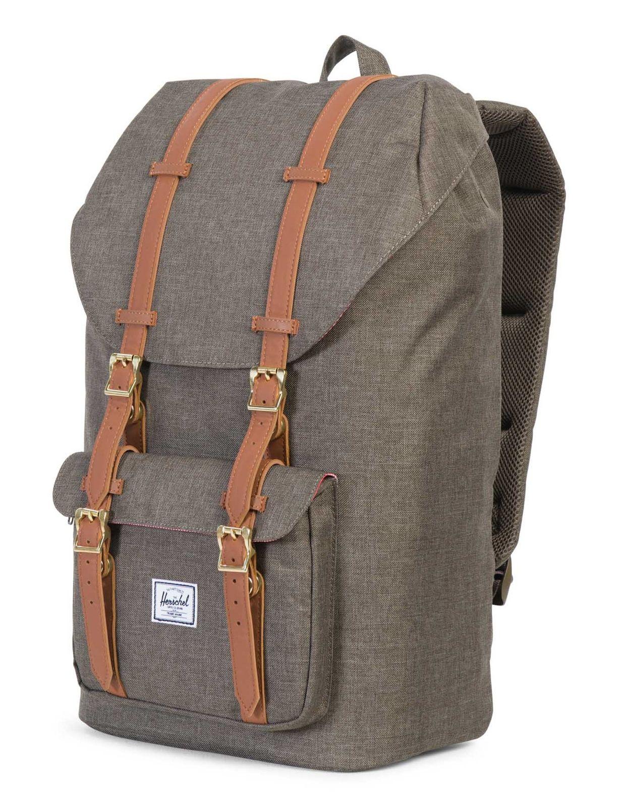 herschel little america backpack rucksack freizeitrucksack gr n braun neu ebay. Black Bedroom Furniture Sets. Home Design Ideas