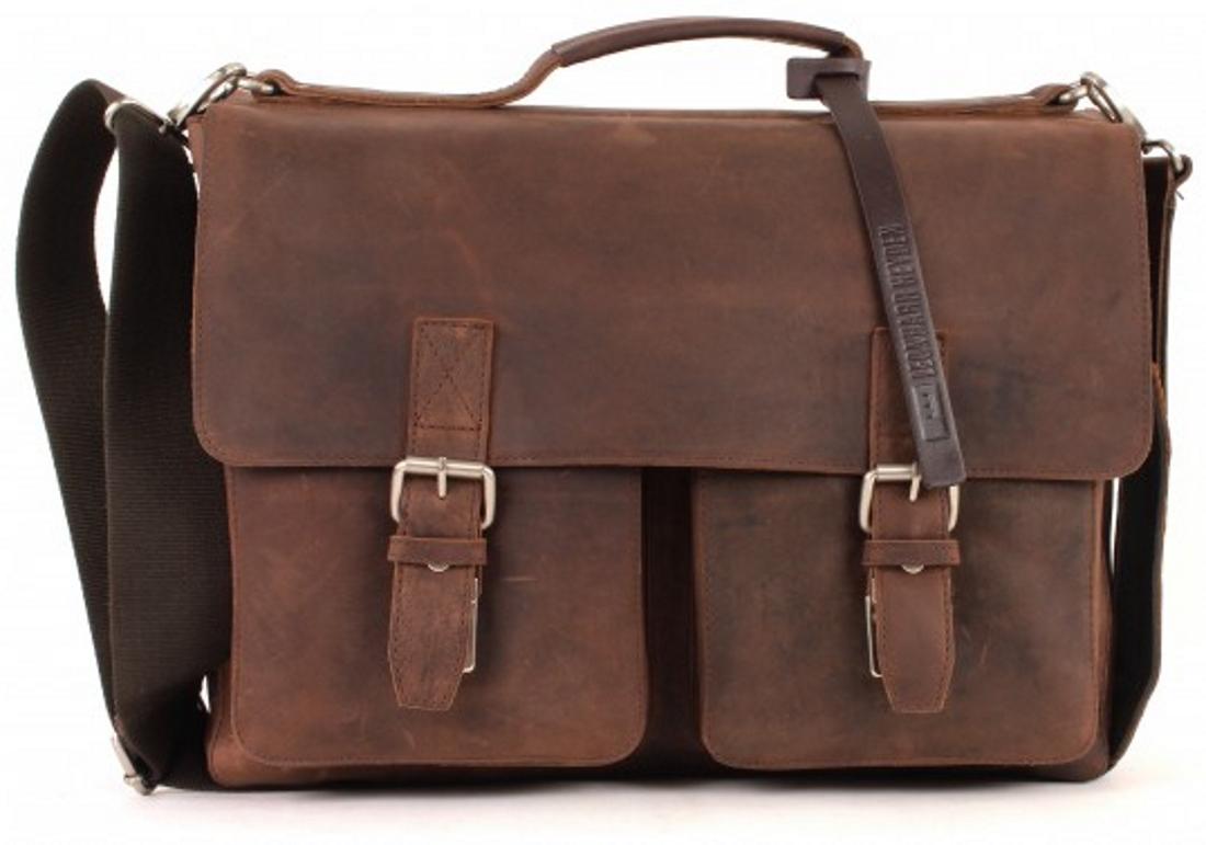 LEONHARD HEYDEN Salisbury Briefcase M Brown
