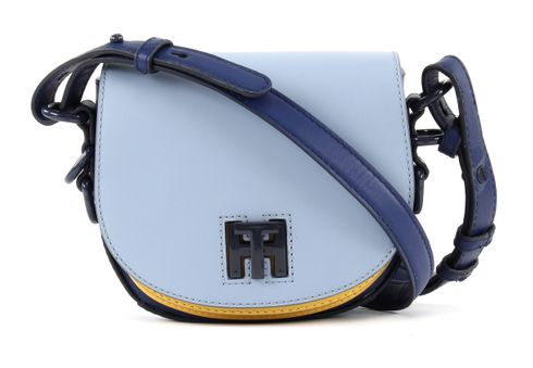 TOMMY HILFIGER Mid Leather Mini Crossover Colourblock Chambray Blue / Ceylon Yellow / Estate Blue