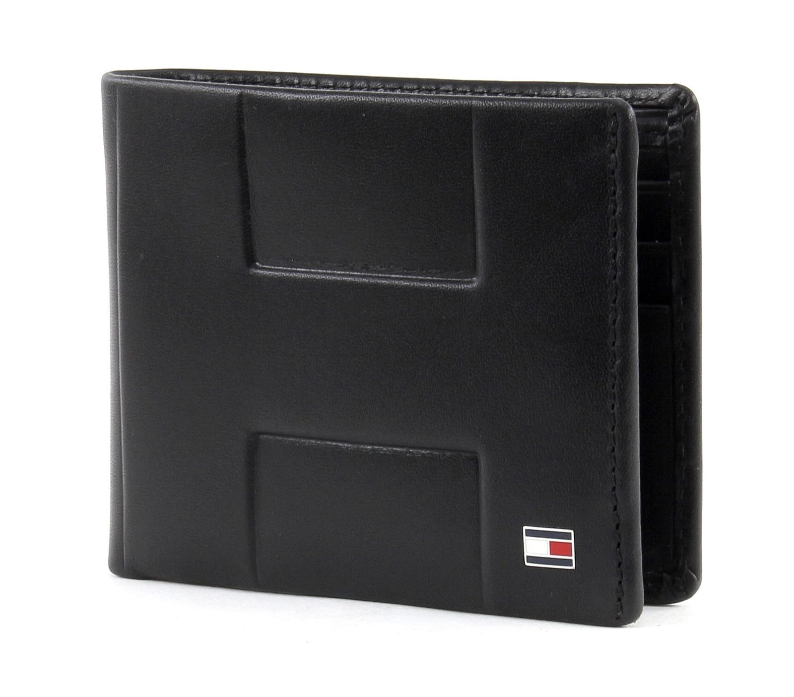 tommy hilfiger th emboss mini cc wallet geldb rse portemonnaie schwarz leder ebay. Black Bedroom Furniture Sets. Home Design Ideas