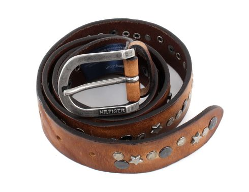 TOMMY HILFIGER Star Stud Belt 3.0 W95 Tan