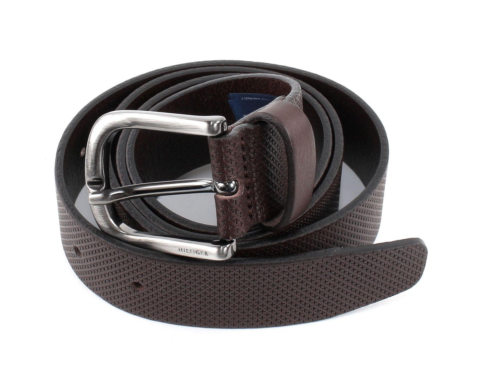 TOMMY HILFIGER Micro Embossed Belt 3.5 W90 Testa Di Moro