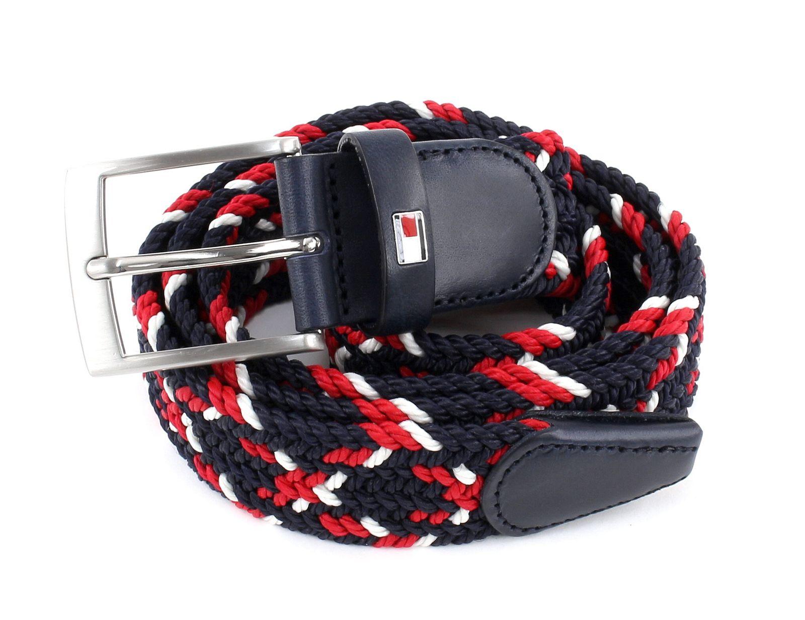 tommy hilfiger belt new adan multi 3 5 w115 red white blue. Black Bedroom Furniture Sets. Home Design Ideas
