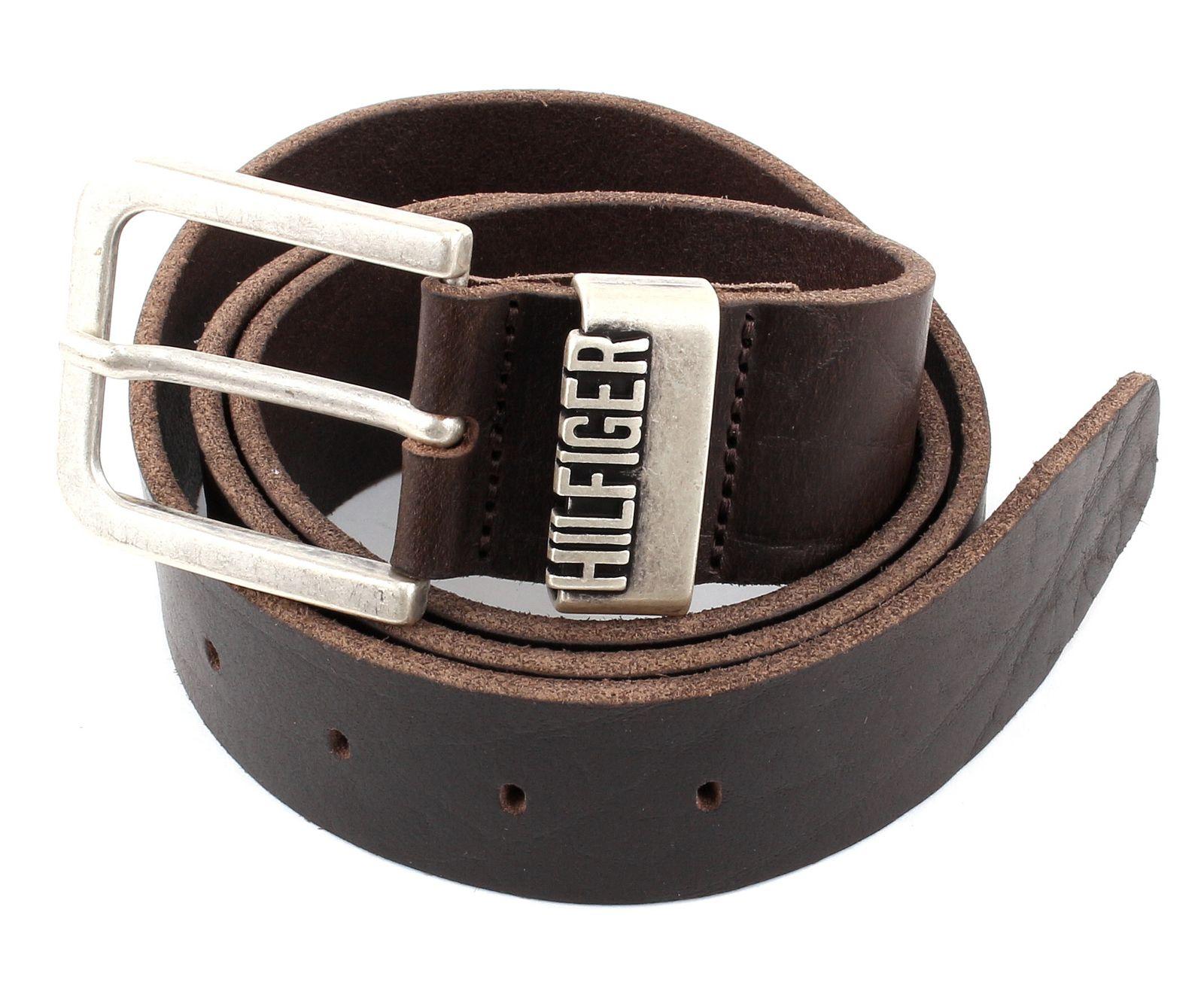 tommy hilfiger denim belt original hilfiger w80 dark brown ebay. Black Bedroom Furniture Sets. Home Design Ideas
