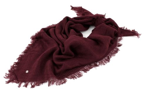 ESPRIT Cosy Flow Square Scarf Bordeaux Red
