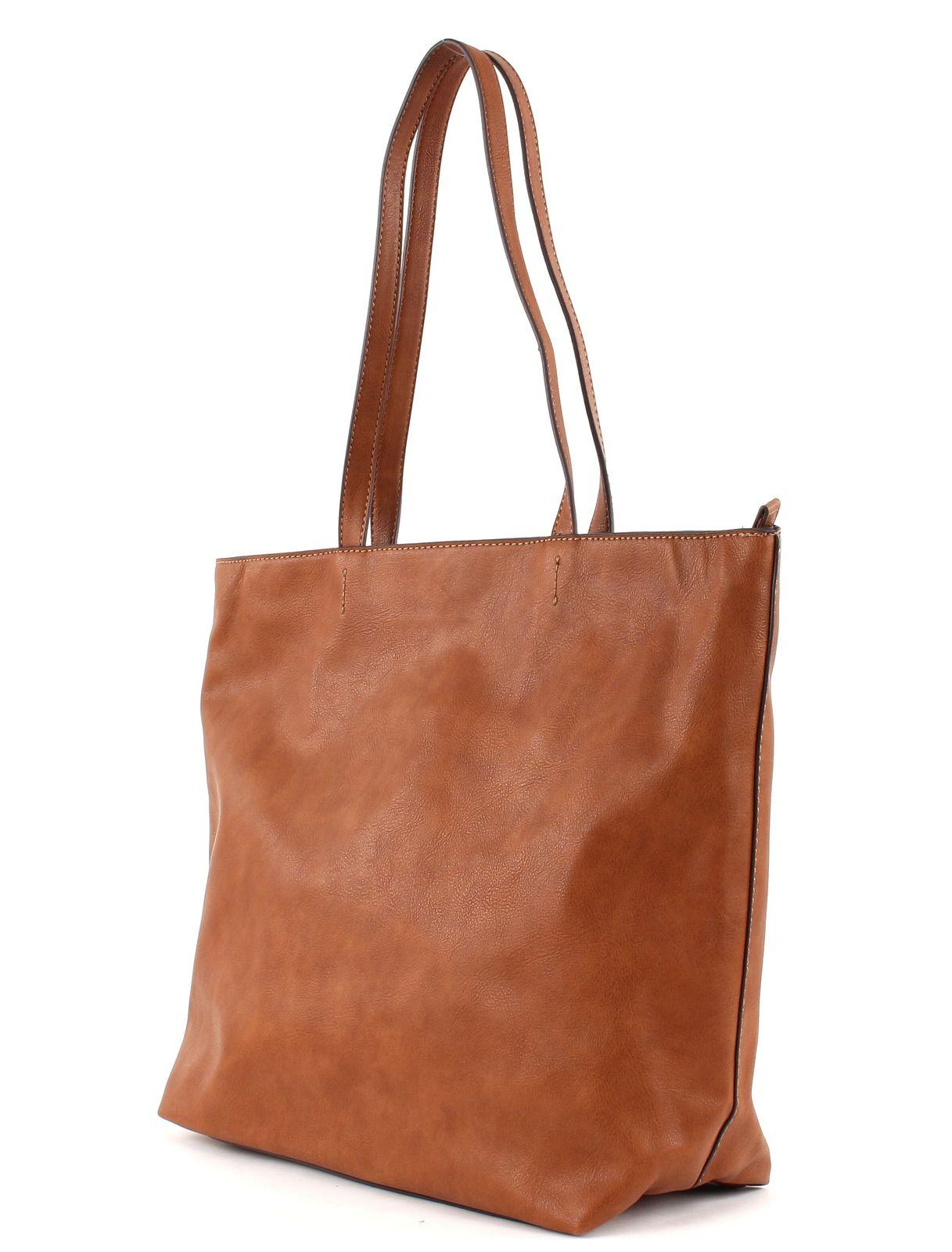 esprit odina shopper tasche schultertasche shopper handtasche rust brown braun ebay. Black Bedroom Furniture Sets. Home Design Ideas