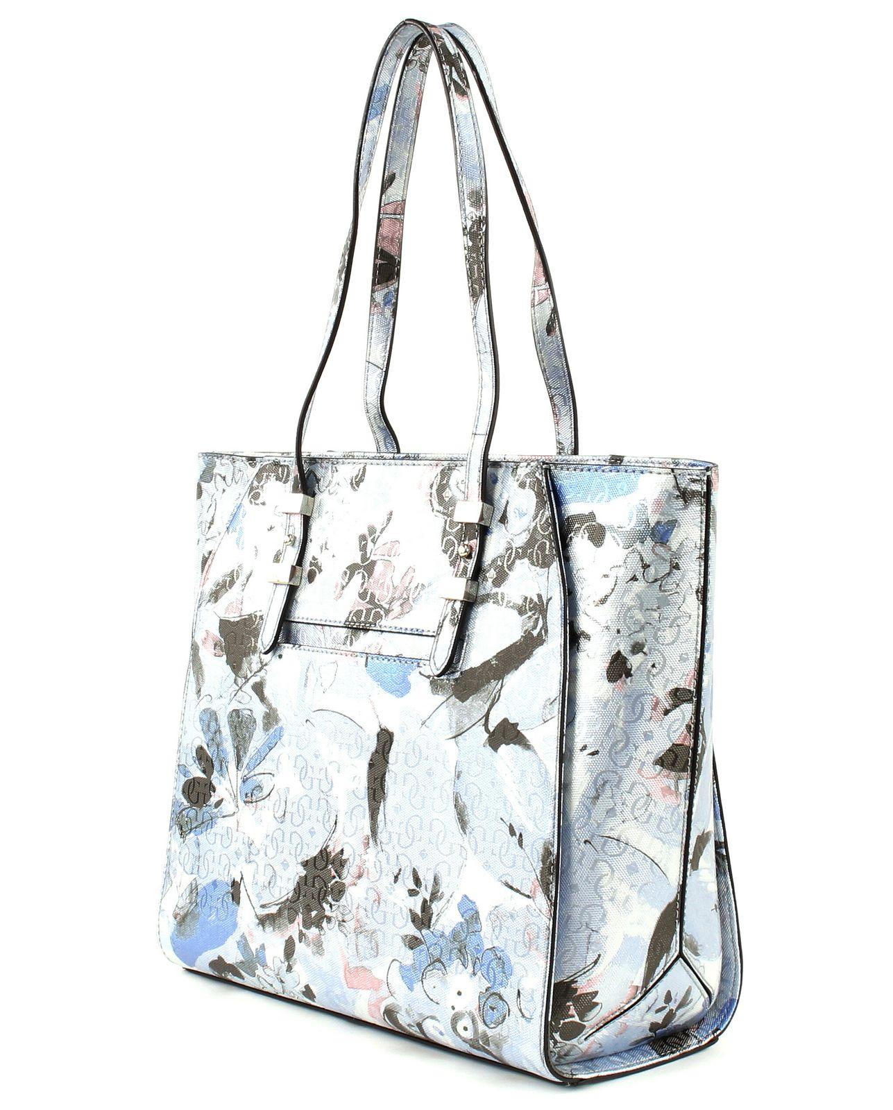 GUESS Shoulder Bag Gia Tote Blue Floral