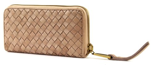 Marc O'Polo Woven Zip Wallet L Sand