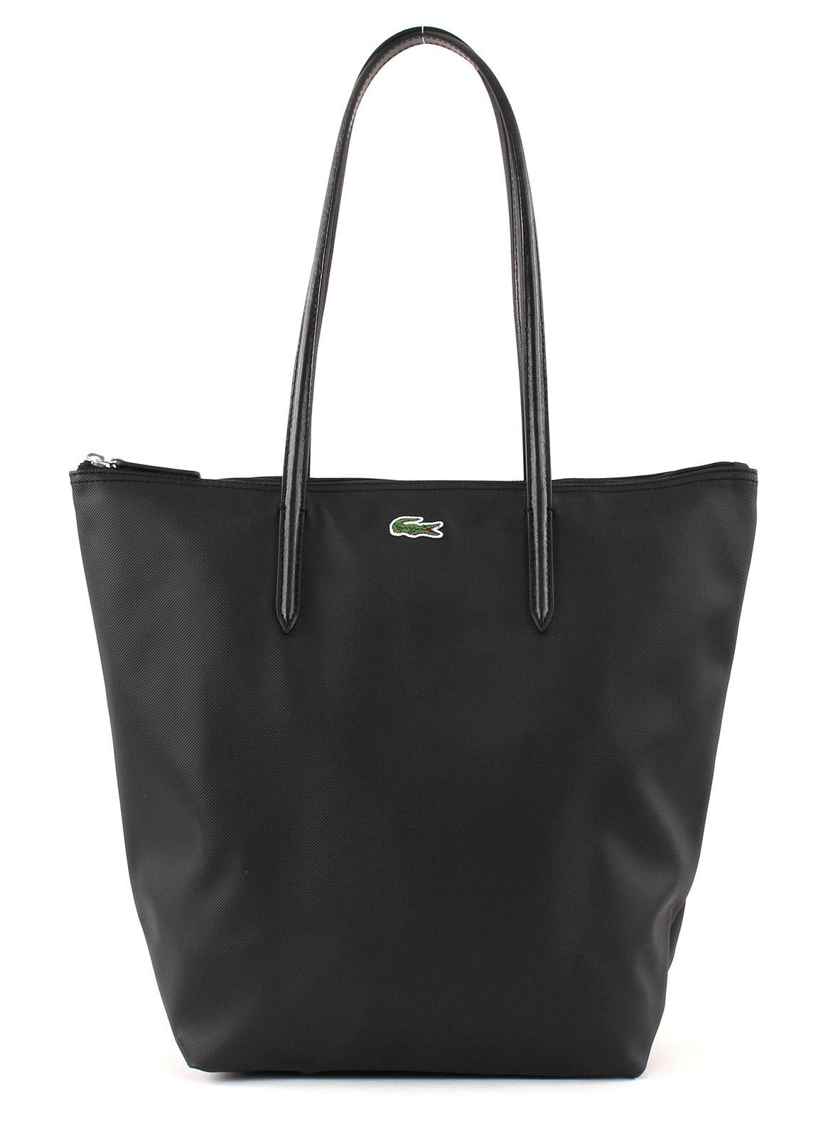 LACOSTE L.12.12 Concept Vertical Shopping Bag Black
