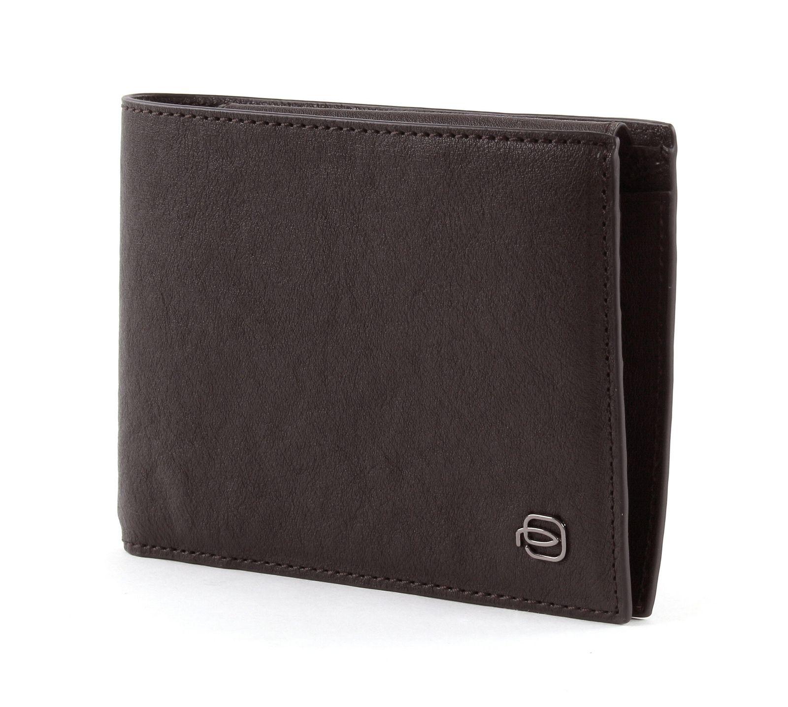 PIQUADRO Black Square Slim Wallet Horizontal Marron