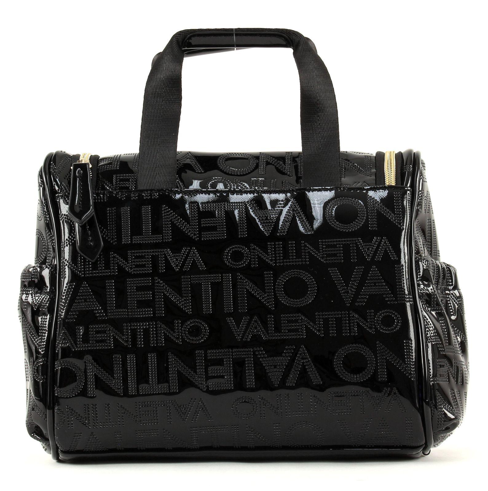 valentino alma beauty case l tasche kosmetiktasche schwarz. Black Bedroom Furniture Sets. Home Design Ideas