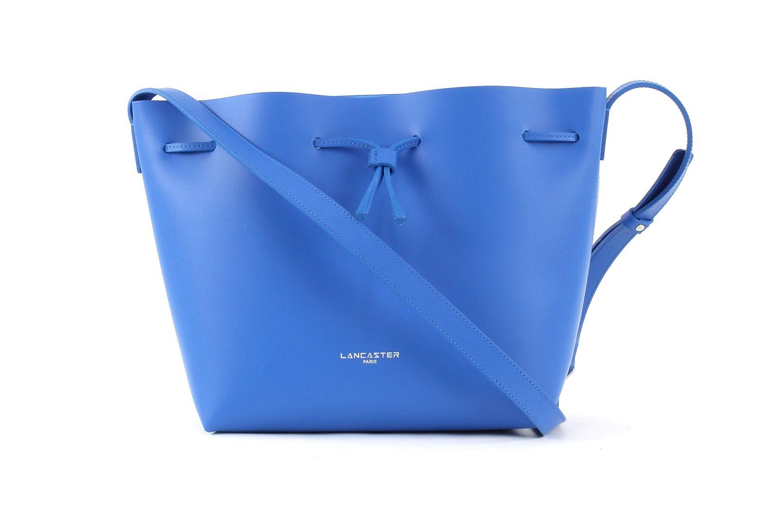 LANCASTER Pur Smooth Bucket Bag S Bleu Cyan