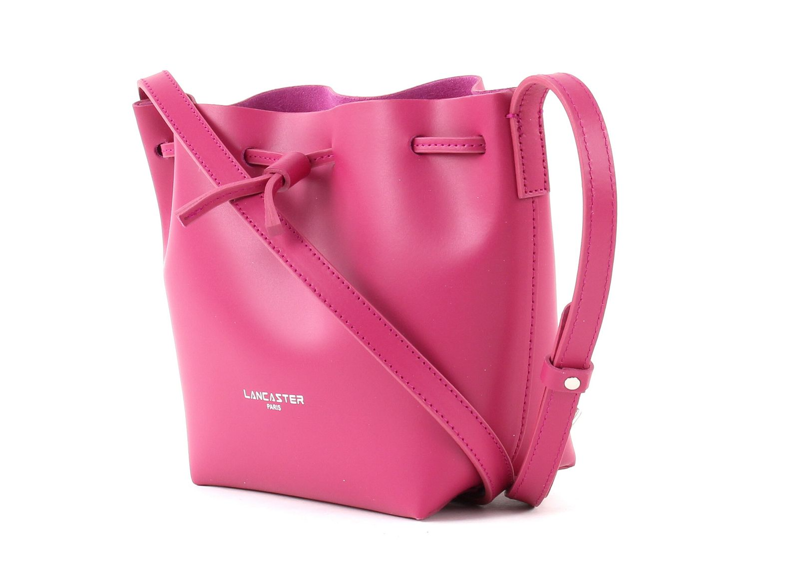 LANCASTER Pur Smooth Bucket Bag XS Fuxia