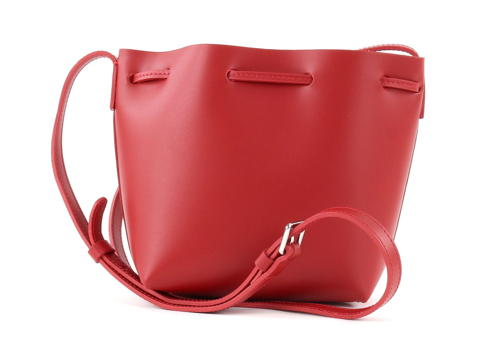 LANCASTER Shoulder Bag Pur Saffiano Bucket XS Rouge 74ae163af7856