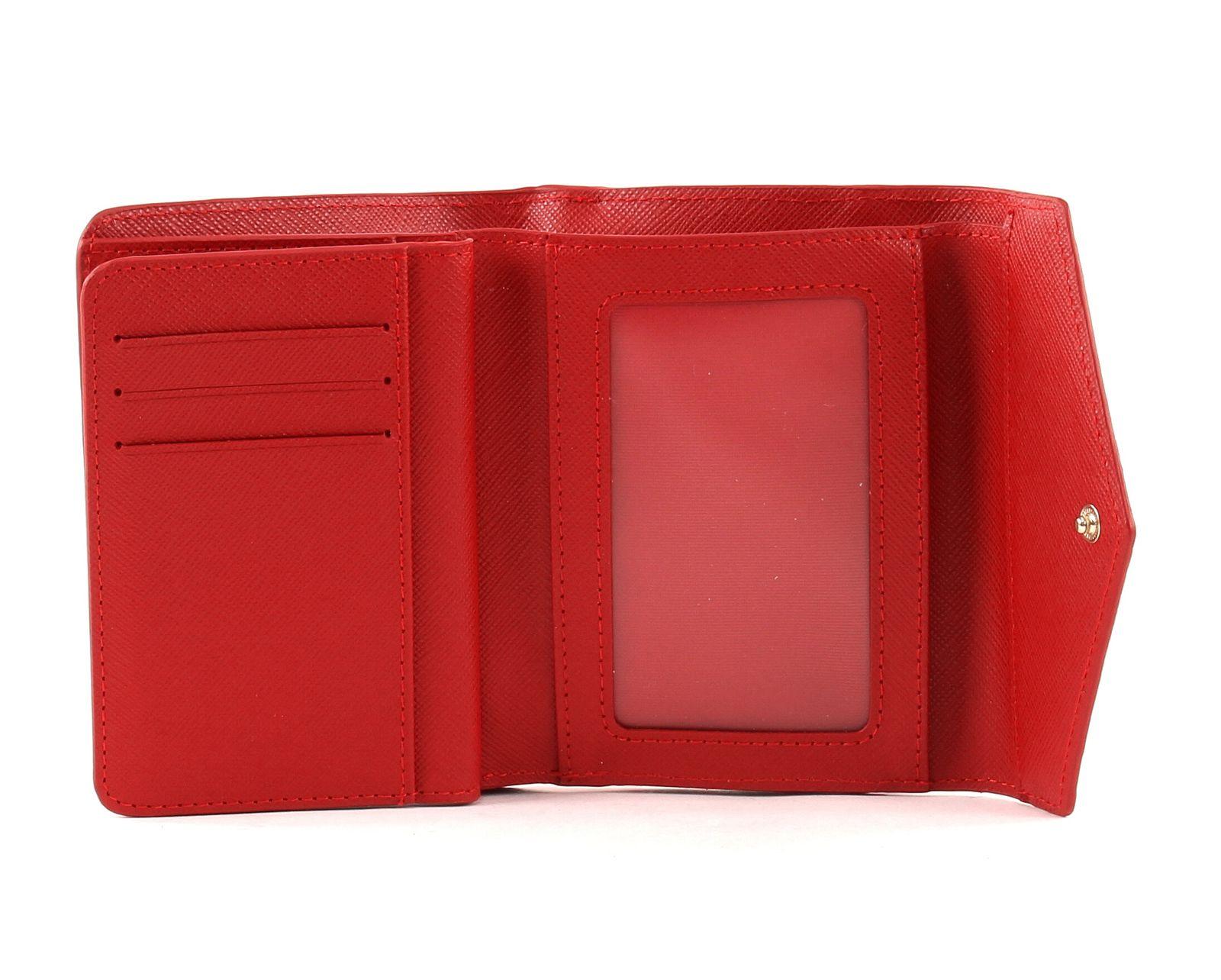LANCASTER Adeline Flap Wallet Rouge